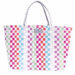 kate Spade Multi Color Large Woven Tote